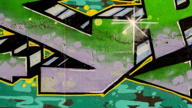 Graffiti. Stop motion.