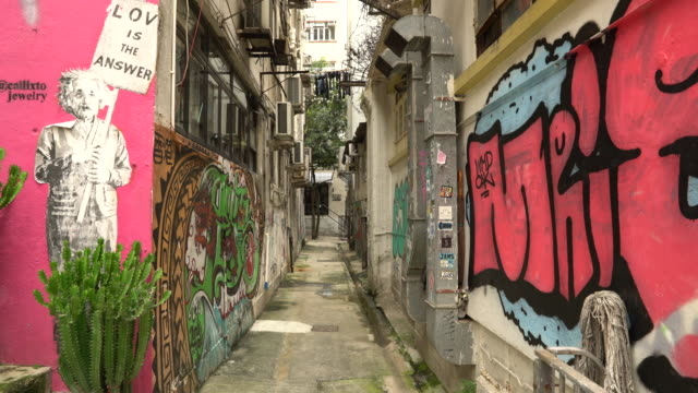 graffiti street - alley stock videos & royalty-free footage