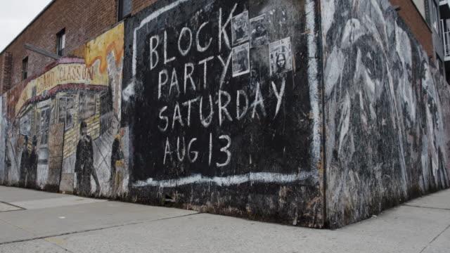 Graffiti wall on an empty street in Brooklyn, NYC - mural - 4k