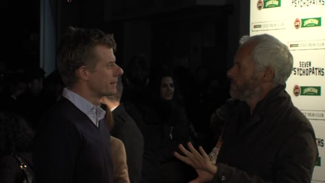 graham broadbent martin mcdonagh at seven psychopaths gala premiere at oval space on november 27 2012 in london england - psychopathy stock videos and b-roll footage