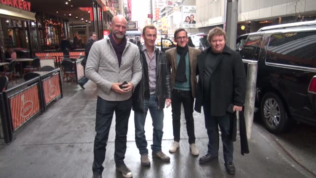 graham mctavish jed brophy adam brown and stephen hunter at the vh1 studios in new york ny on 12/7/12 - vh1 stock videos & royalty-free footage