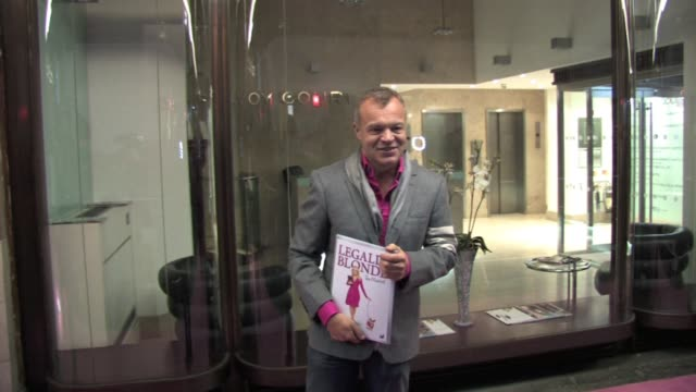 graham norton at the celebrity video sightings in london at london england - avvistamenti vip video stock e b–roll