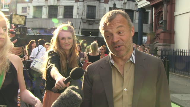 Graham Norton on guests on his show at the Shrek The Musical Press Night at London England