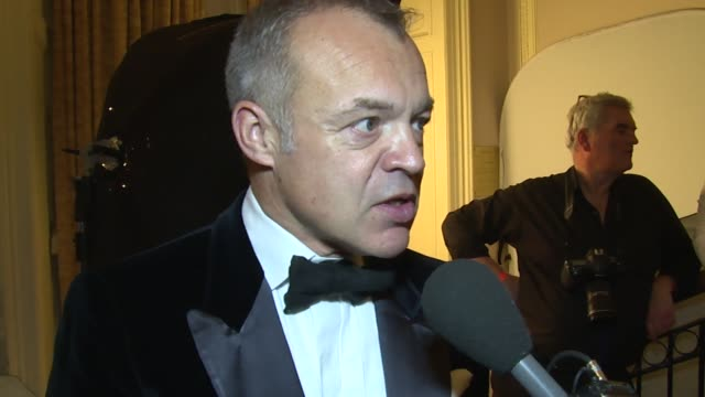 stockvideo's en b-roll-footage met interview graham norton on the foundation amy his show and upcoming awards at the amy winehouse foundation ball on 18th november 2014 in london... - middelenmisbruik