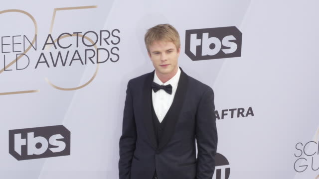 graham rogers at 25th annual screen actors guild awards at the shrine auditorium on january 27 2019 in los angeles california - screen actors guild awards stock videos & royalty-free footage