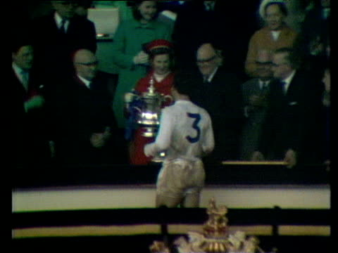 Graham Williams receives trophy from Princess Alexandra Everton vs West Bromwich Albion 1968 FA Cup Final Wembley London