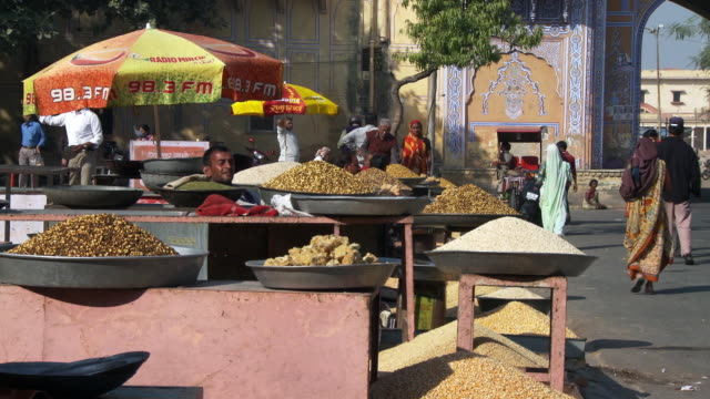 grain and nut market - rajasthan stock videos and b-roll footage