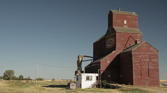 grain elevator - saskatchewan stock videos and b-roll footage