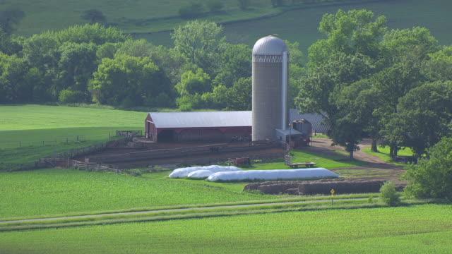 MS ZI POV Grain elevator with farmland in background / Cerro Gordo County, Iowa, United States