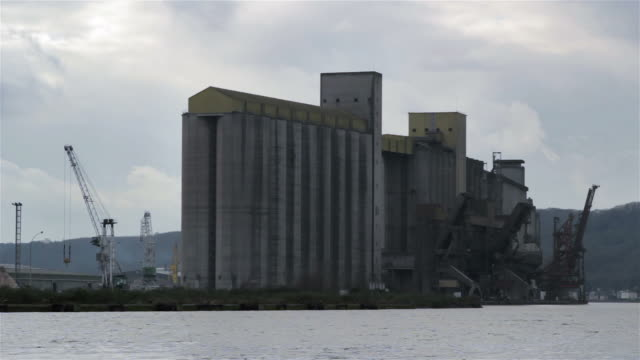 grain silo, france - gray color stock videos and b-roll footage