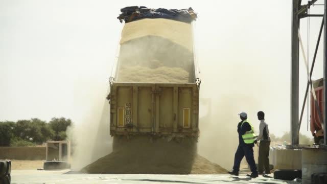 grain silos stand at a compagnie agricole de saintlouis du senegal rice processing and storage facility in saintlouis senegal on tuesday nov 22 a... - saint louis bildbanksvideor och videomaterial från bakom kulisserna