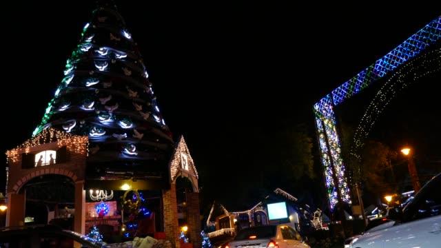 ブラジル・リオグランデ・ド・スルのクリスマス時期のグラマド - リオグランデドスル州点の映像素材/bロール