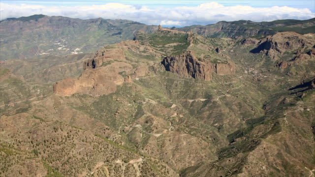 gran canaria mountains - roque nublo grand canary stock videos and b-roll footage