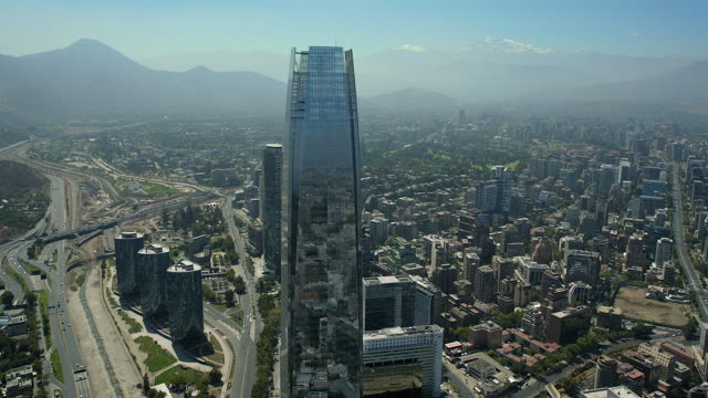 gran torre santiago skyscraper in chile - chile stock videos & royalty-free footage