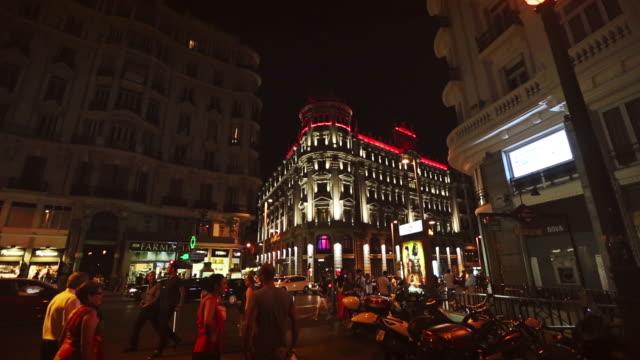 Gran via in Madrid at night