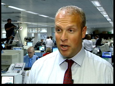 granada and carlton merger approved; henk potts interview sot - dramatic surge in share price - itv stock videos & royalty-free footage