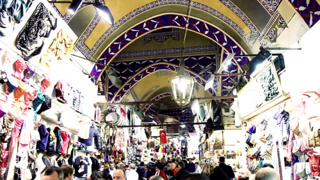 Grand Bazaar crowd in Istanbul - Turkey