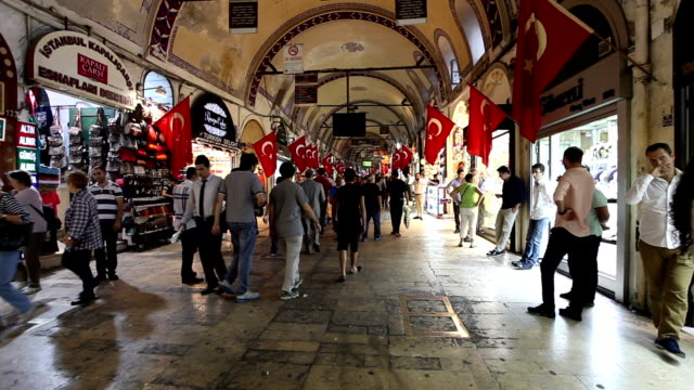 grand bazaar a istanbul - turchia video stock e b–roll