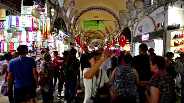 grand bazaar in istanbul - grand bazaar istanbul stock videos and b-roll footage