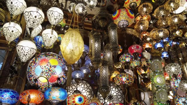 grand bazar shop in istanbul - middle eastern culture stock videos and b-roll footage