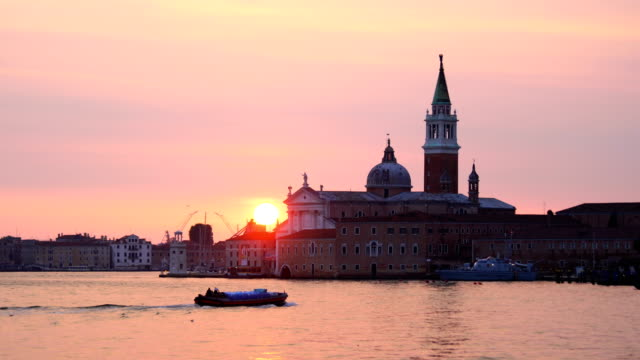 grand canel with traditional venetain buildings on the background - venice italy stock videos and b-roll footage