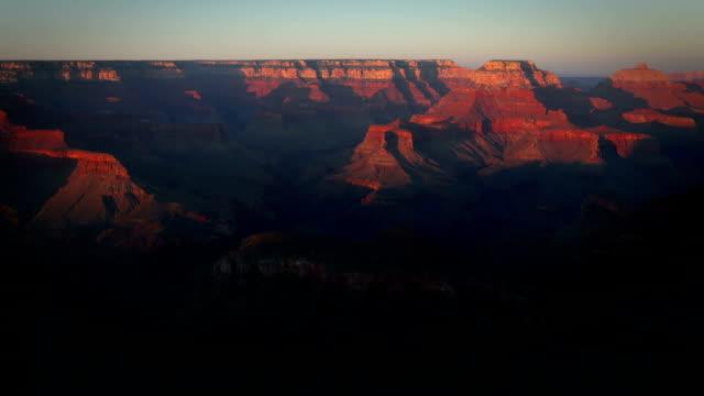 grand canyon al tramonto - flagstaff arizona video stock e b–roll