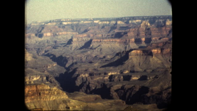 grand canyon; barren and layered rocks - grand canyon stock videos & royalty-free footage