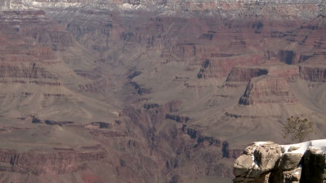 grand canyon national park in winter - rock strata stock videos & royalty-free footage