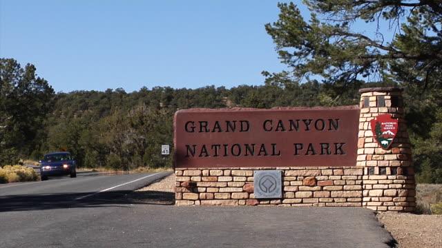grand canyon national park signage. - national landmark stock videos & royalty-free footage