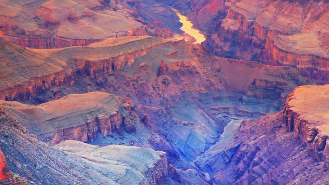 grand canyon national park south rim, il precipizio punto di vista - grand canyon video stock e b–roll