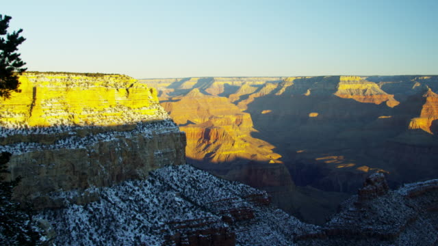 grand canyon national park sunrise rock colorado arizona - colorado plateau stock videos & royalty-free footage