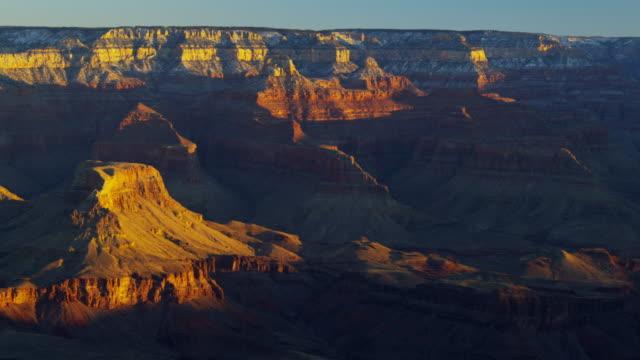 grand canyon snow national park sunrise arizona usa - colorado plateau stock videos & royalty-free footage