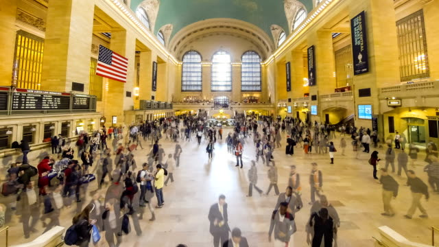 vidéos et rushes de tl: grand central station, new york city, états-unis - station de métro