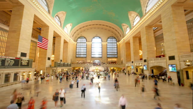 grand central station, new york city - grand central station manhattan stock videos & royalty-free footage
