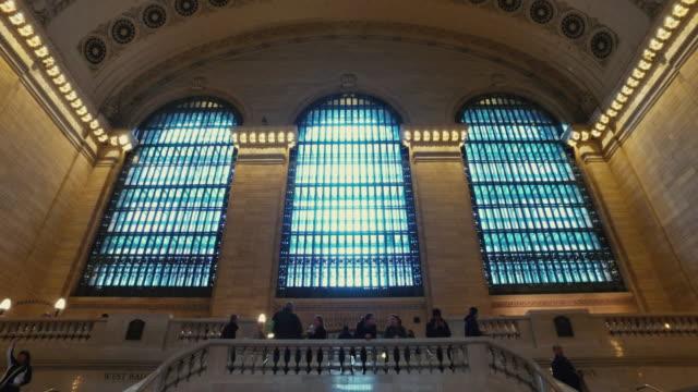 vídeos y material grabado en eventos de stock de estación grand central de ciudad de nueva york - estación edificio de transporte