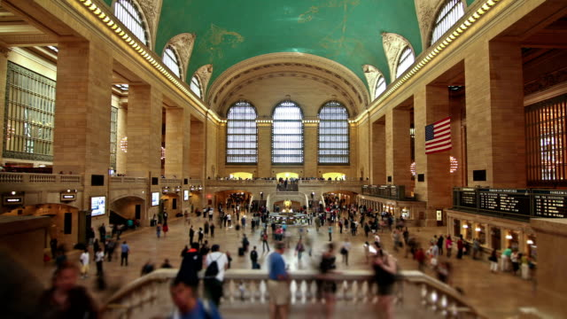 grand central station - stazione della metropolitana video stock e b–roll