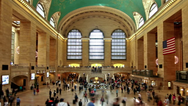 grand central station zoom - grand central station manhattan stock videos & royalty-free footage