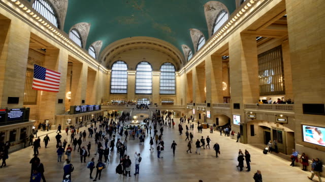 grand central terminal in new york - grand central station manhattan stock videos & royalty-free footage