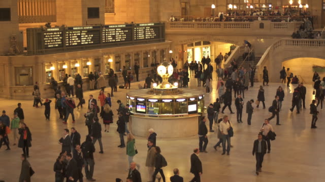 grand central terminal interior - grand central station manhattan stock videos & royalty-free footage