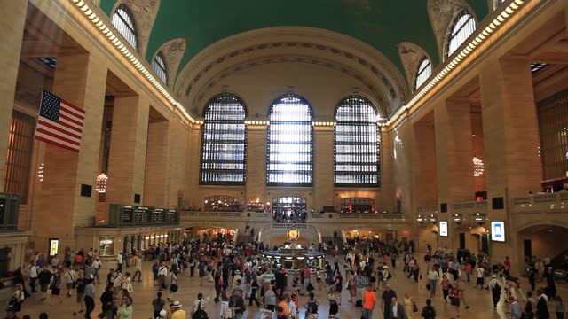 grand central terminal (gct; also referred to as grand central station[n 2] or simply as grand central) is a commuter rail terminal located at 42nd street and park avenue in midtown manhattan, new york city. - film composite stock videos & royalty-free footage