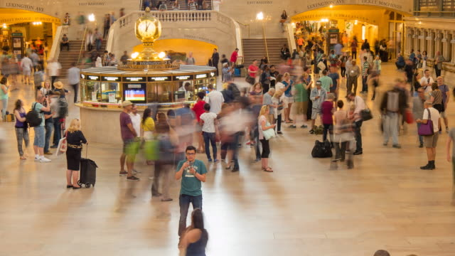 Grand Central Terminal, Main Concourse Time Lapse, Manhattan, New York City, New York, USA, North America