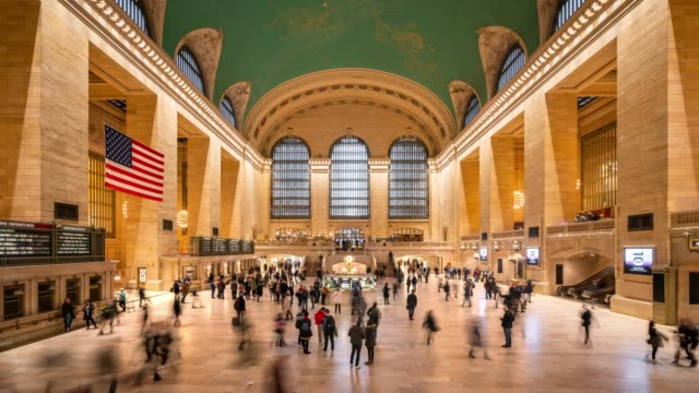 t/l ws grand central terminal / new york city, usa - american culture stock videos & royalty-free footage