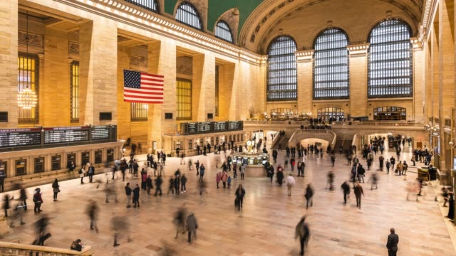 t/l ws zo grand central terminal / new york city, usa - rush hour stock videos & royalty-free footage