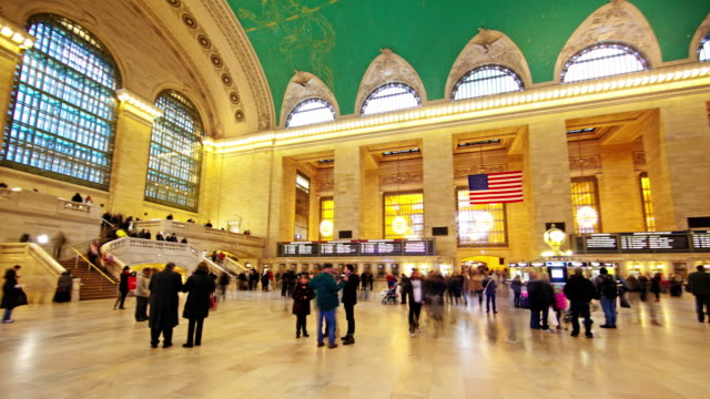 Grand Central Terminal Time Lapse 4K