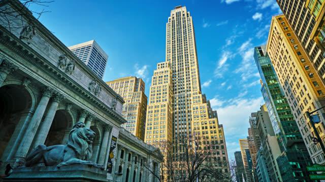 vídeos de stock, filmes e b-roll de grand famous view of midtown new york city - centro de manhattan