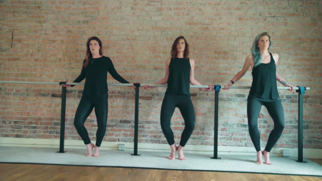 barre grand plié exercise - barre stock videos & royalty-free footage