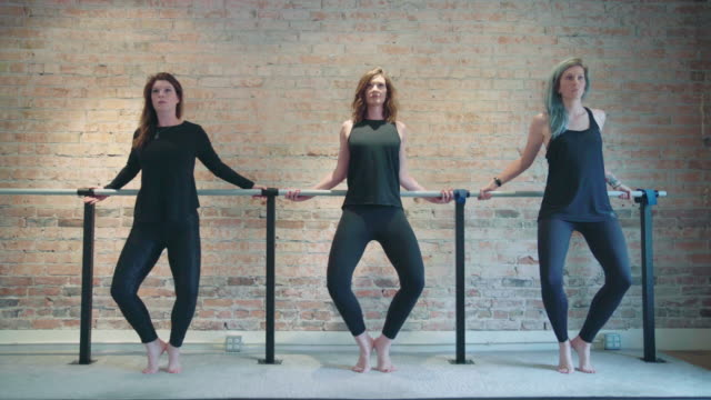 barre grand plié exercise - barre stock videos and b-roll footage