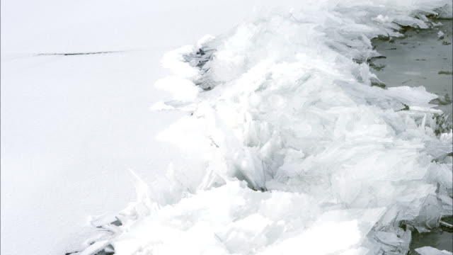 grand haven : ice forming on a lake michigan - frozen stock videos and b-roll footage