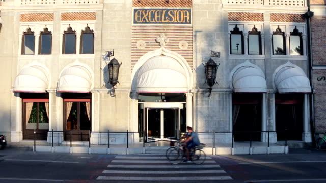 grand hotel excelsior at lido di venezia - film festival stock videos & royalty-free footage