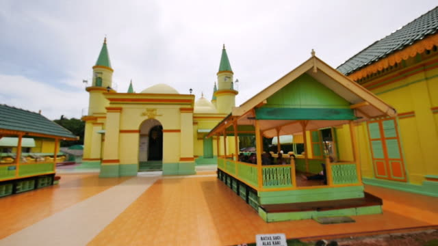 grand mosque of the sultan of riau - barry kusuma stock videos and b-roll footage